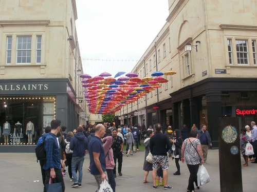 The Centre of Bath near the finish of The Cotswold Way