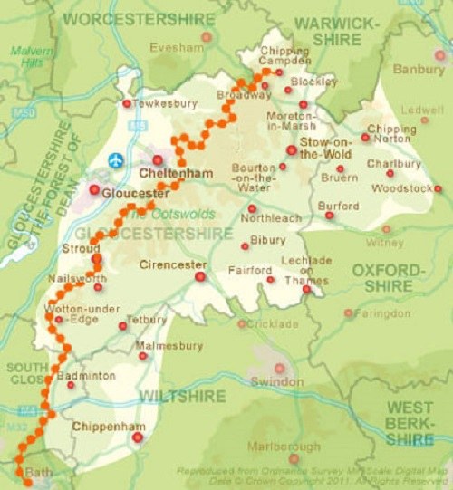 The Route of The Cotswold Way