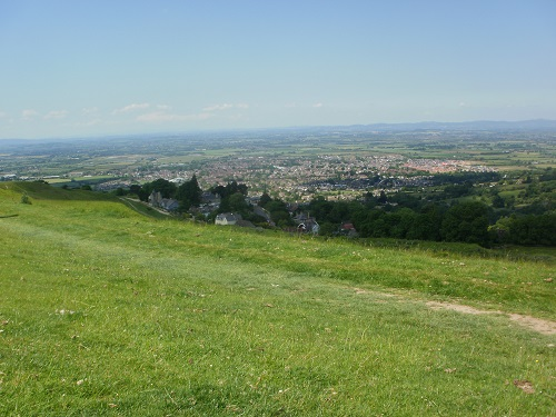 Looking at the scenery from the Cotswold Way