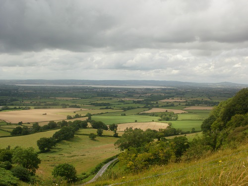 Looking over the River Severn into a cloudy Wales
