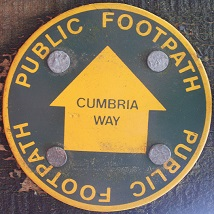 A Cumbria Way waymarker