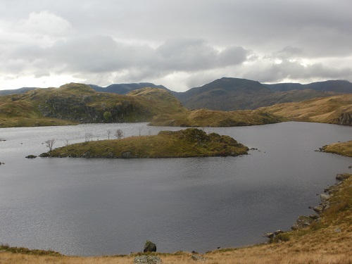 Angle Tarn, looks lovely even on a cloudy day