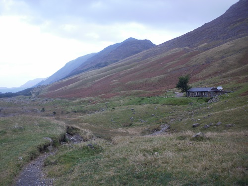 Passing the iconic Black Sail Hut Youth Hostel in Ennerdale