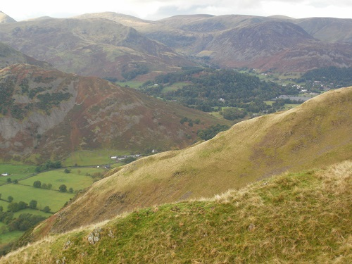 Looking over the valley, Glenridding on the right