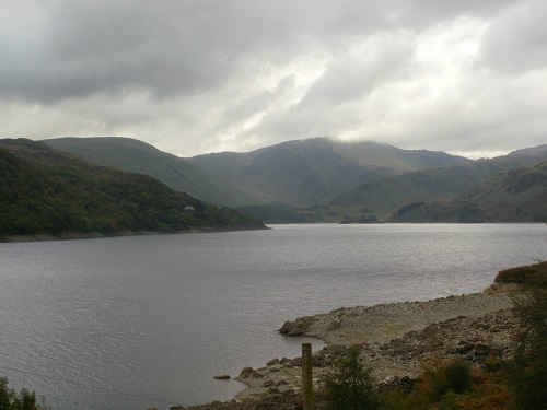 Haweswater with dark skies on their way