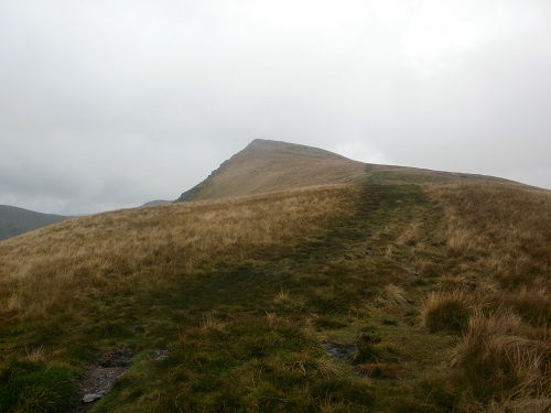 Almost at Kidsty Pike summit, seconds away from a heavy shower