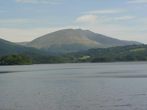 Looking over Derwent Water at Blencathra