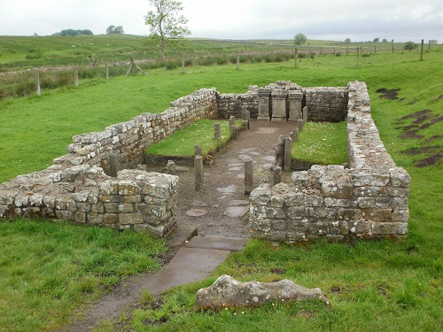 The Roman Temple of Mithras at Brocolitia on the Hadrian's Wall Path