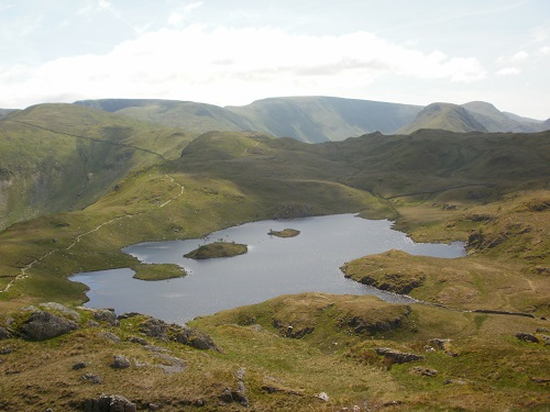 The very pretty Angle Tarn, photo taken from Angletarn Pikes
