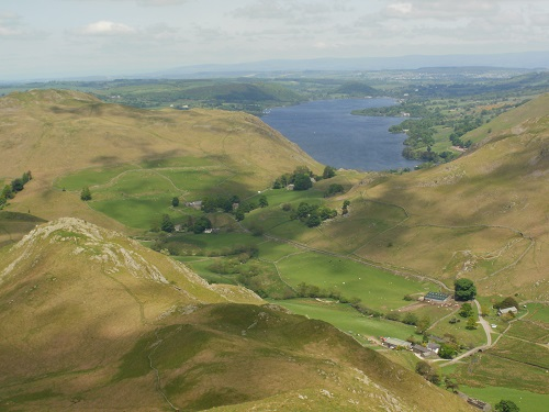 Looking down at Ullswater from the Beda Fell ridge