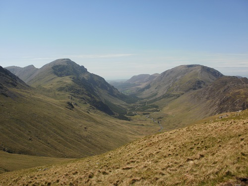 The views down to Black Sail and the surrounding hills were fantastic