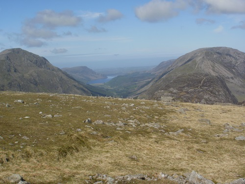 Ennerdale Water and Haystacks on the right