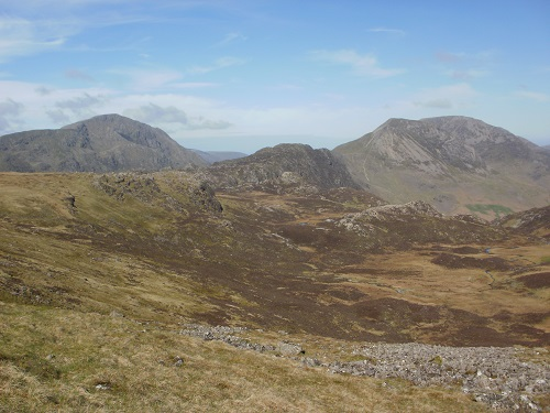Haystacks and High Crag on the right