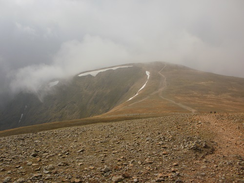 The path leading to Helvellyn Lower Man from White Side