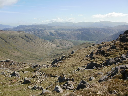 Looking down to Honister and Borrowdale