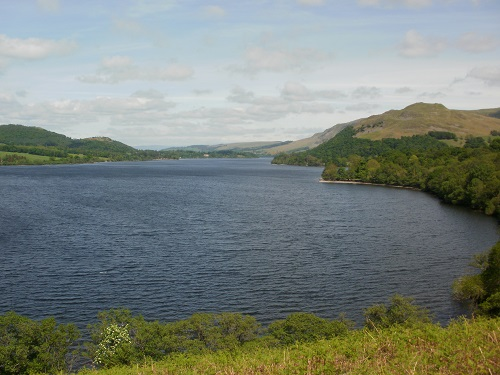 Looking along Ullswater from the lakeside path between Howtown and Patterdale