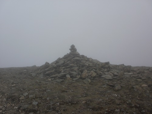 The summit cairn on Nethermost Pike