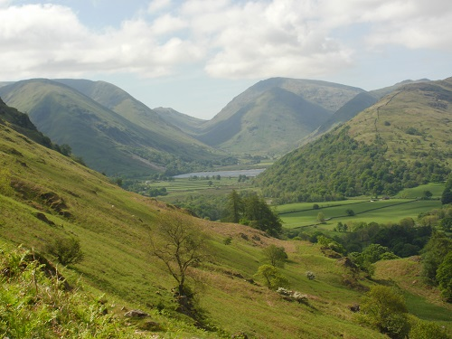 Looking towards Hartsop, Brothers Water and The Dodds