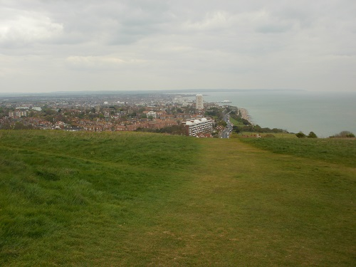 Nearing the end of the South Downs Way walk at Eastbourne
