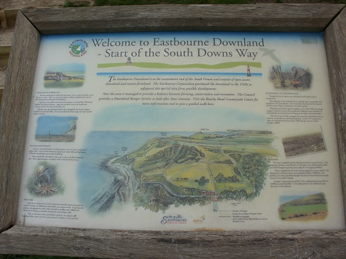 The end of the South Downs Way at Eastbourne