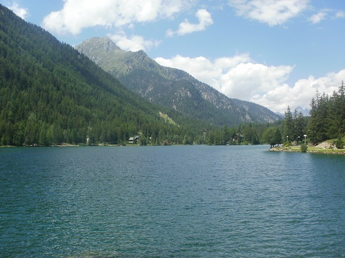 The beautiful Lake in the resort of Champex