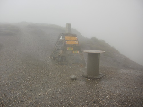 The stormy summit of the Grand Col Ferret, the Italy/Switzerland border