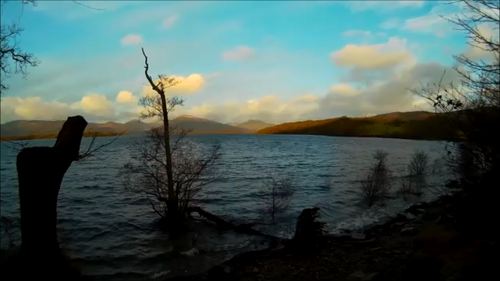 Early morning sunshine over Loch Lomond